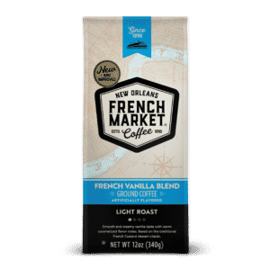 French Vanilla Blend Light Roast Ground Coffee Bag