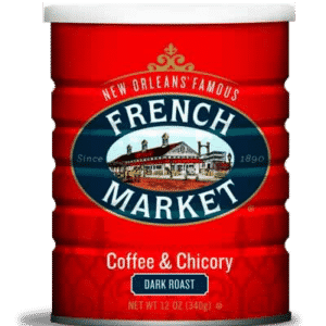 Dark Roast Ground Coffee & Chicory Can